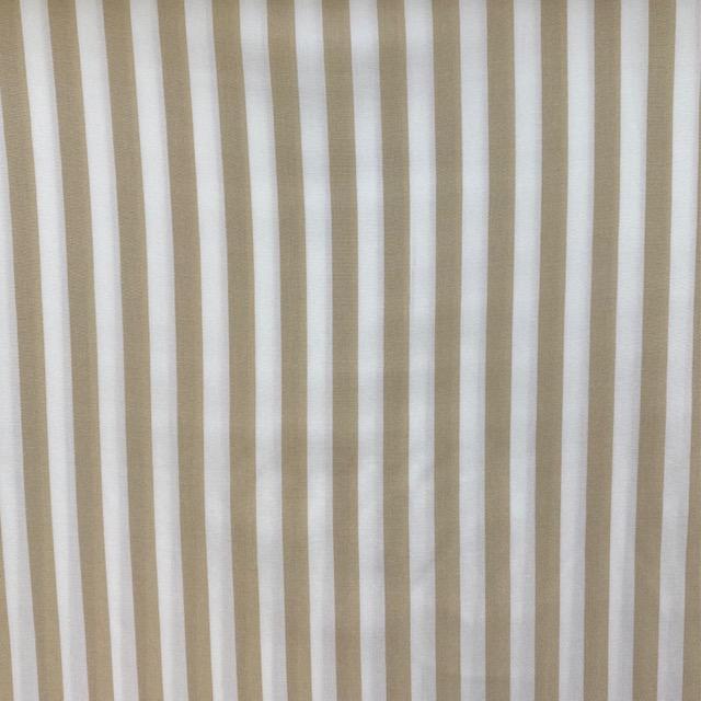 Viskose Stoff, Streifen, beige/weiß. Art. 320050.72