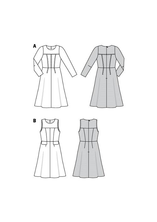 Schlichte, elegante Kleider #6099