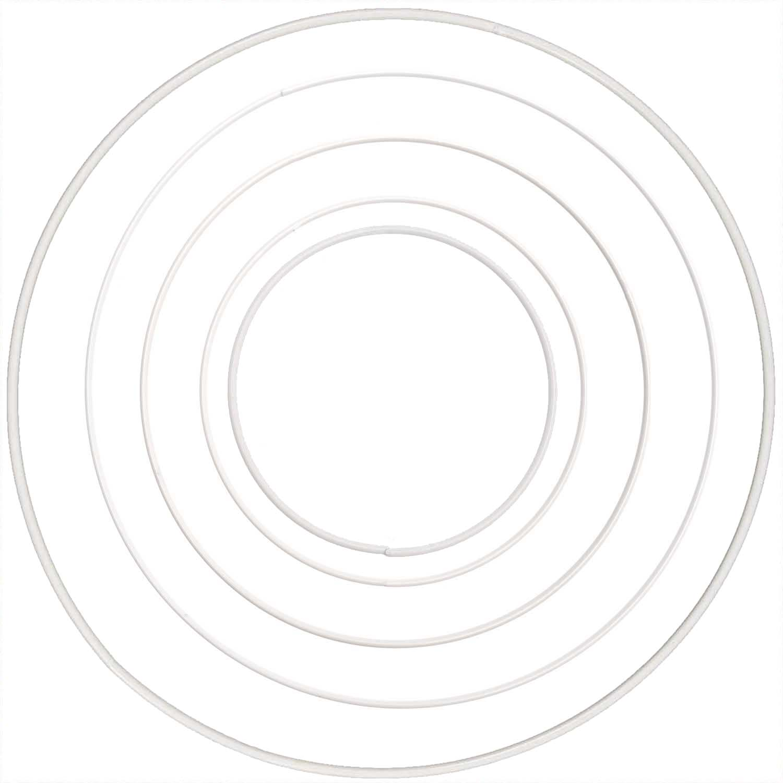 RICO DESIGN METALLRING RUND WEISS,  15CM