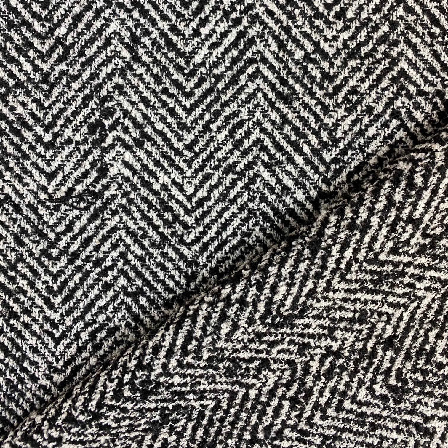 Mantelstoff Woll-Mix Fischgrat Muster. Art. 3332-01