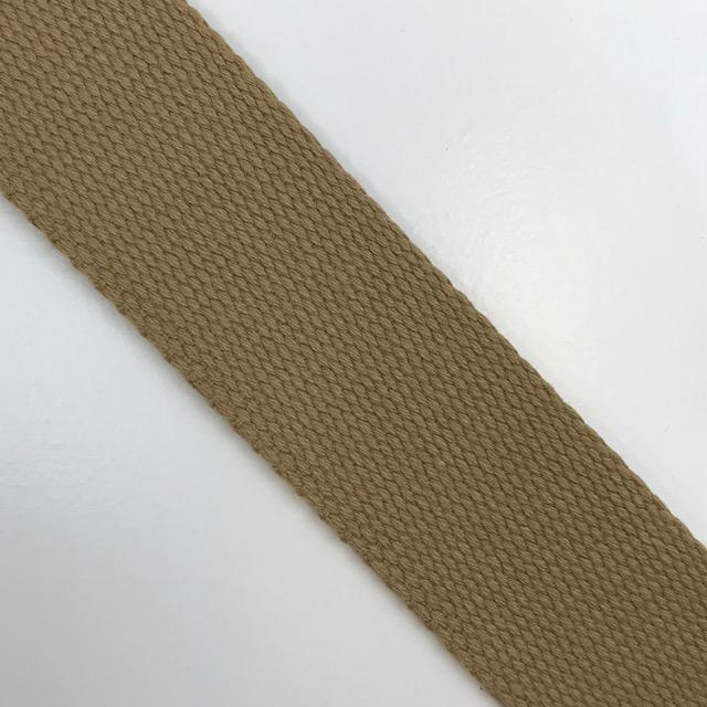 Baumwollgurtband  40 mm,  Union Knopf, beige. Art. SW11635