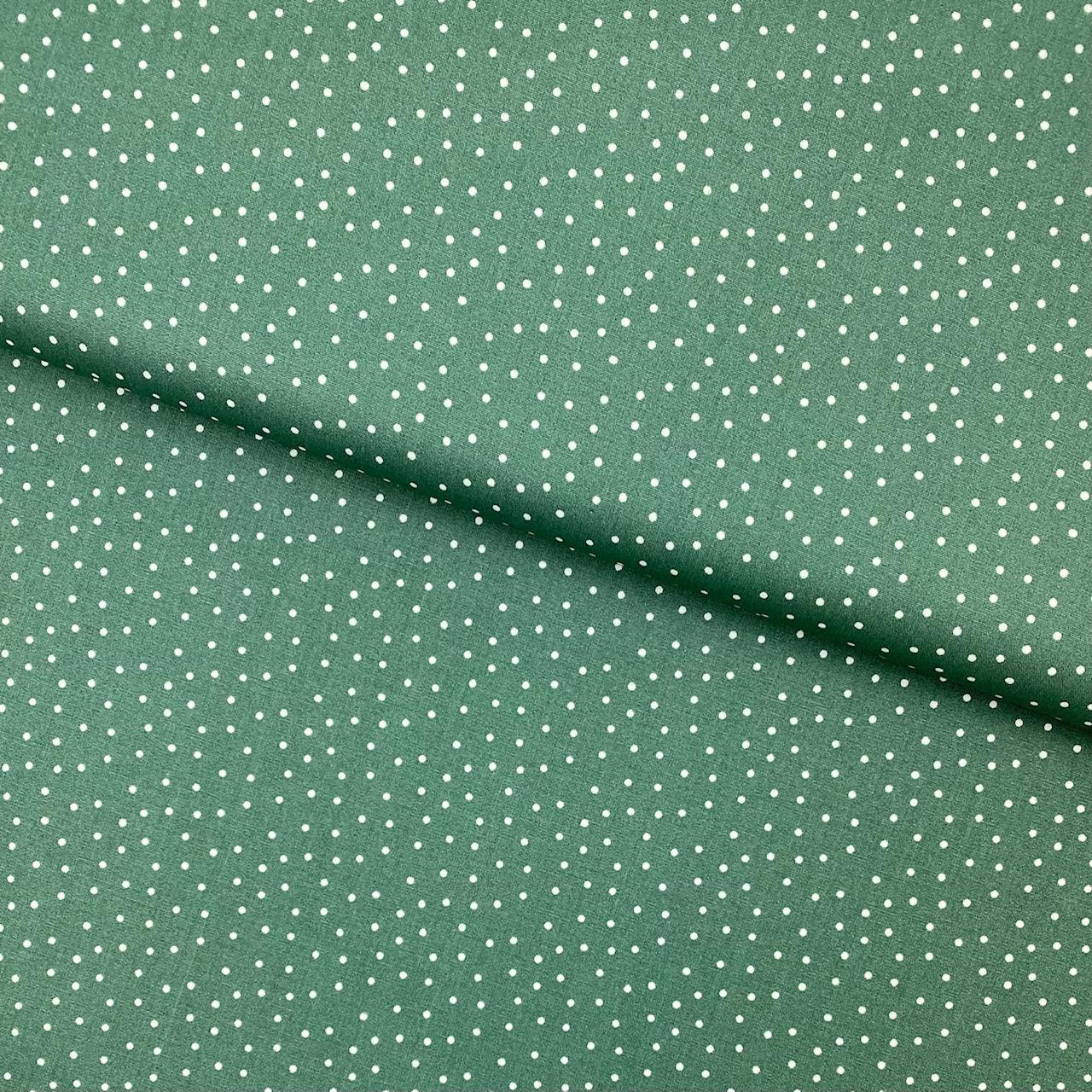 Baumwollpopeline, Punkte, grün. Art. SW11370