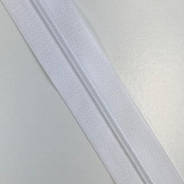 Endlosreißverschluss Meterware 3 mm, Union Knopf, weiß, Farbe 12. Art. 4511