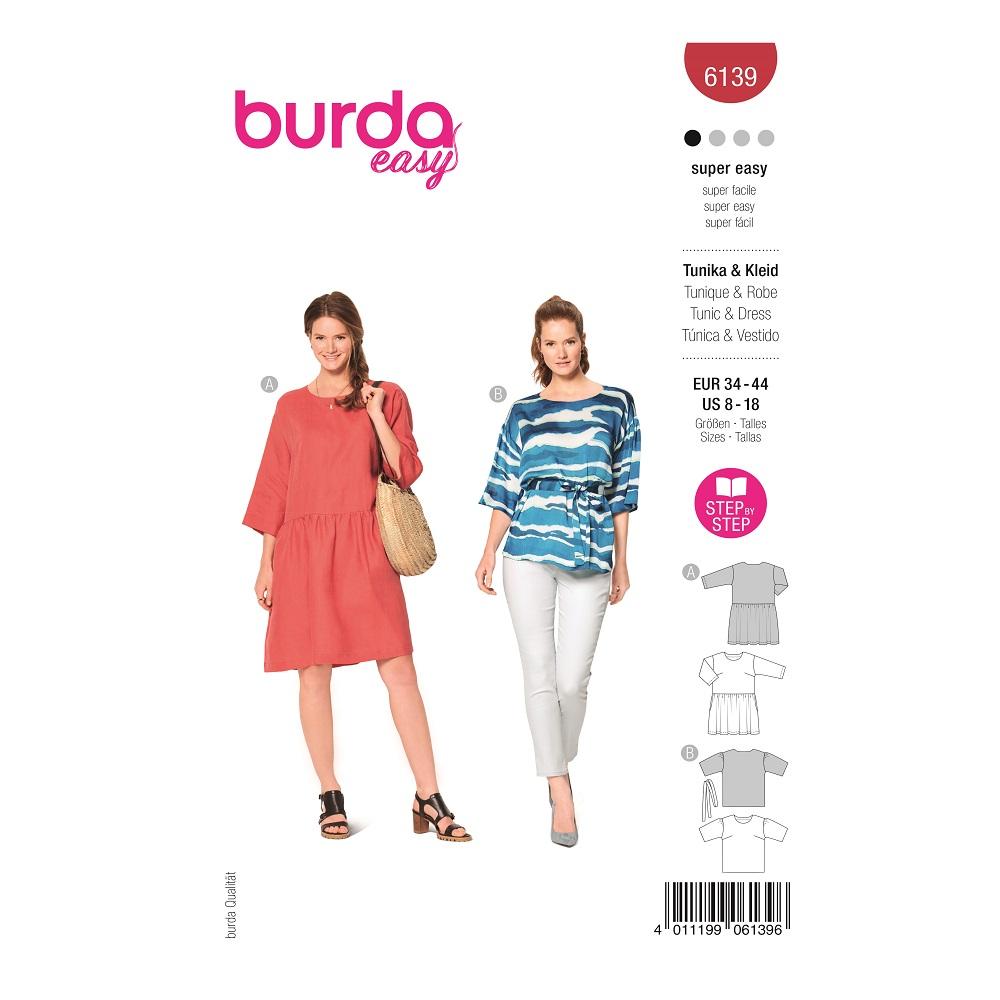 Kleid und Tunika. Burda #6139