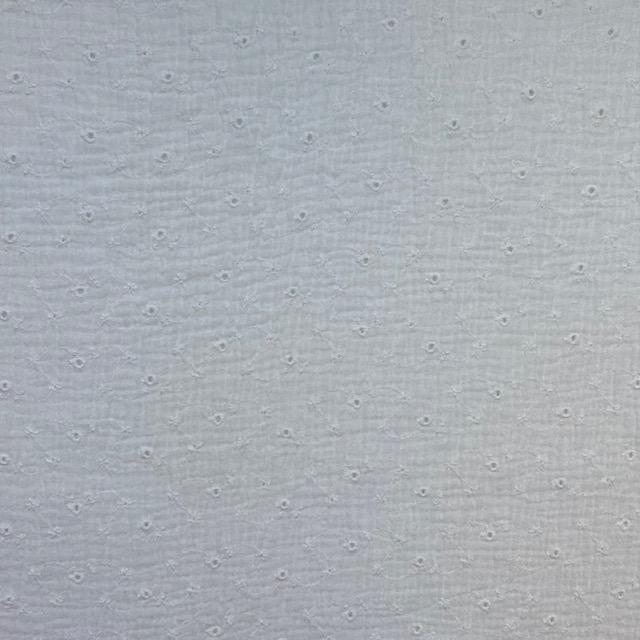 Musselin Lochstickerei kleine Blüten, weiß. Art. 4884/51