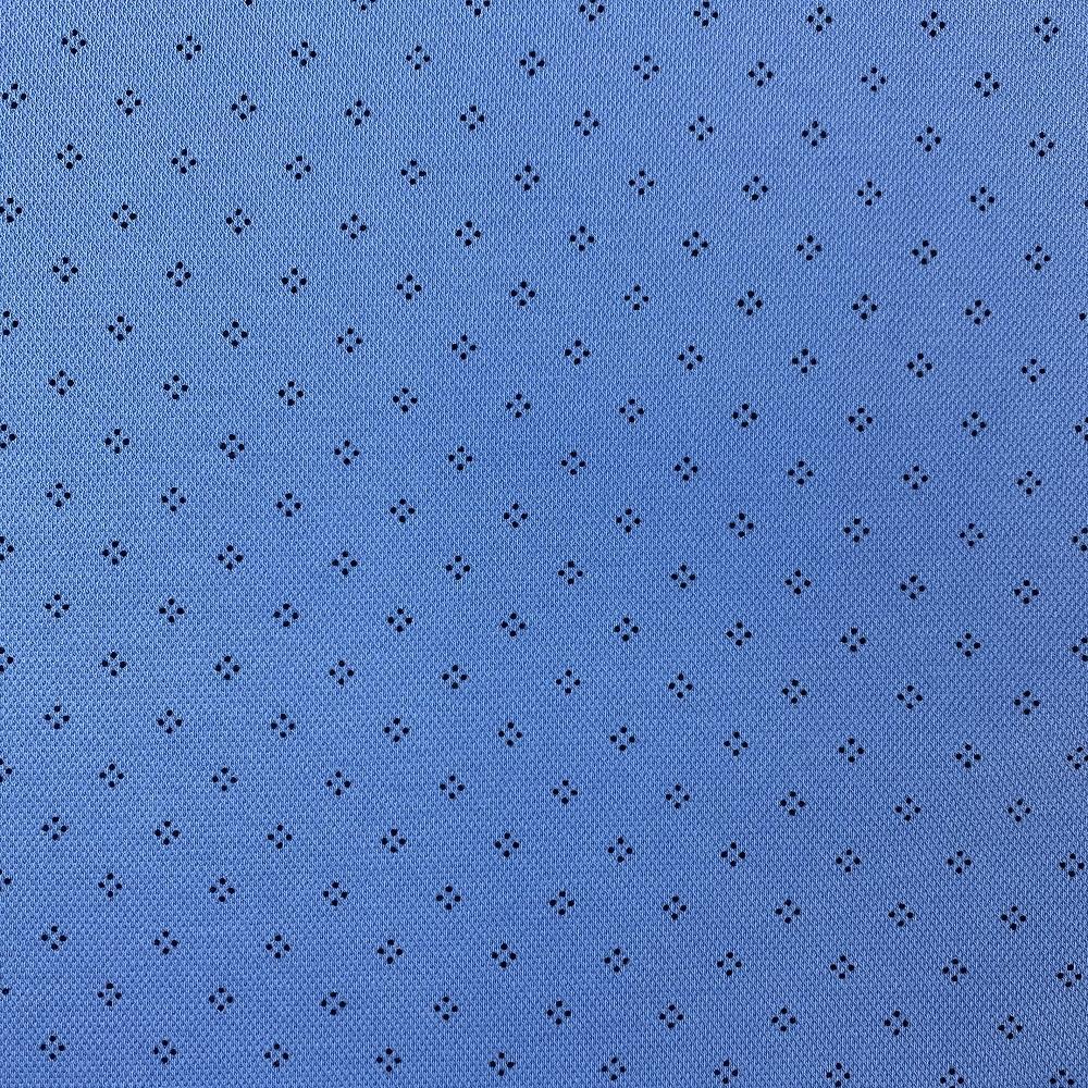 Baumwolljersey, Piqué, blau. Art. KC2053-706