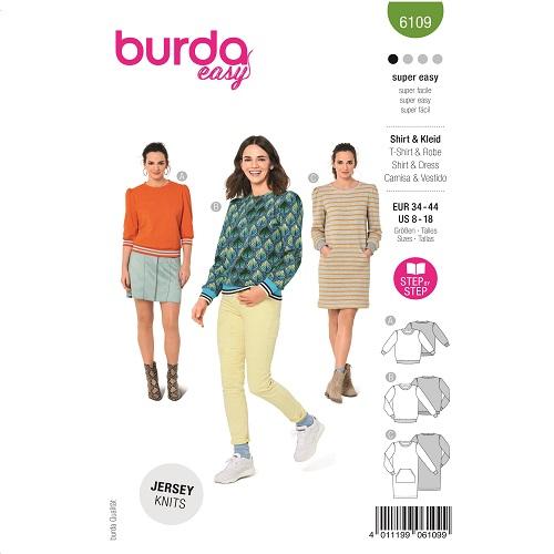 Bequeme Sweatshirts / Kleid mit Känguru-Tasche #6109