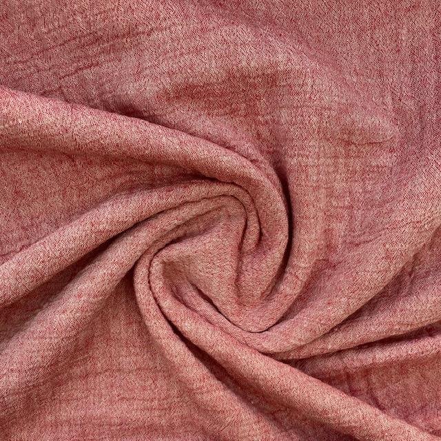 Baumwoll Musselin Double Gauze, rosa meliert. Art. SW12014