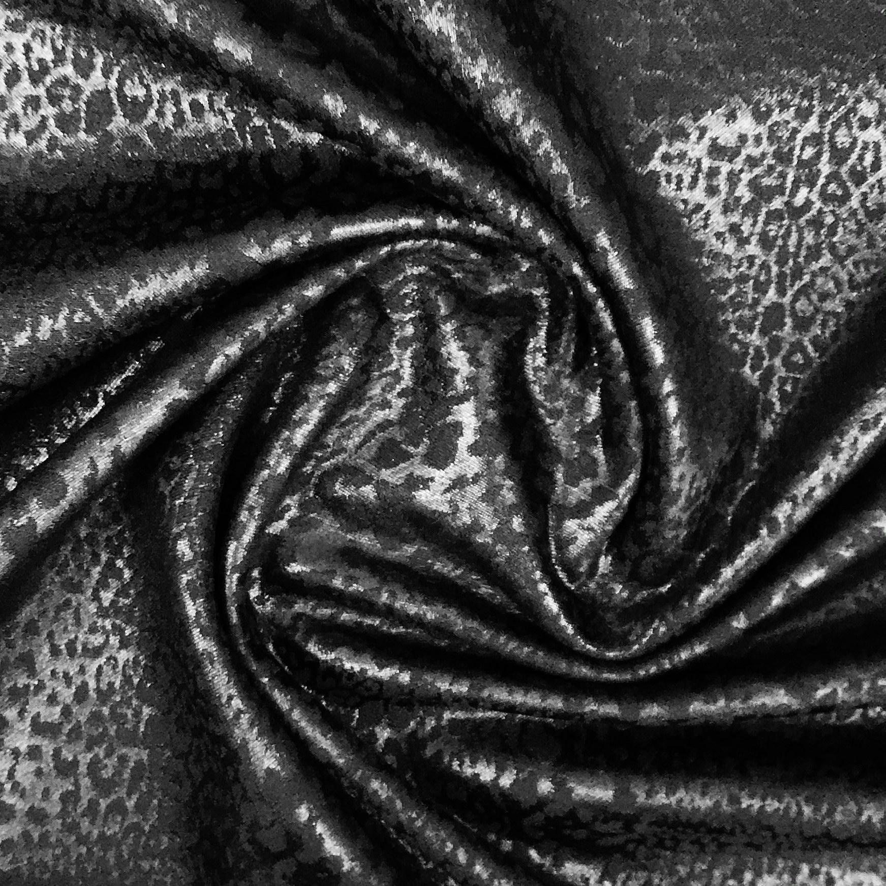 Stylischer Baumwollmix Satin Stretch in schwarz. Art. SW11219
