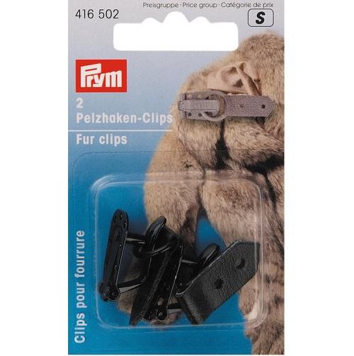 Pelzhaken-Clips, schwarz, 2 Stück. Prym Art. 416501