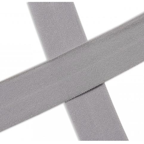 Elastisches Einfassband , matt - sivergrau. Art.13-020-561