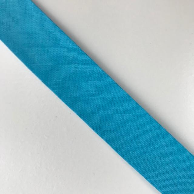 Baumwollpopeline - Schrägband, aqua. Art. SW11669