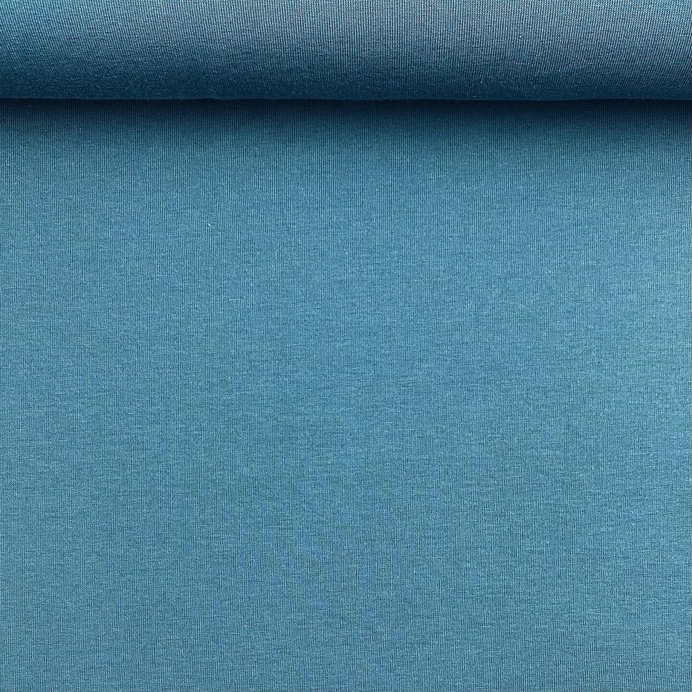 Soft French Terry/Sweatstoff angeraut , petrol, uni. Art. 4283/1106