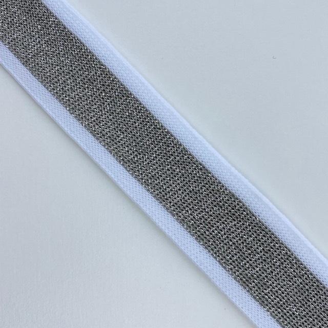 Galonband, Lurex, weiß/silber. Art. 261-030