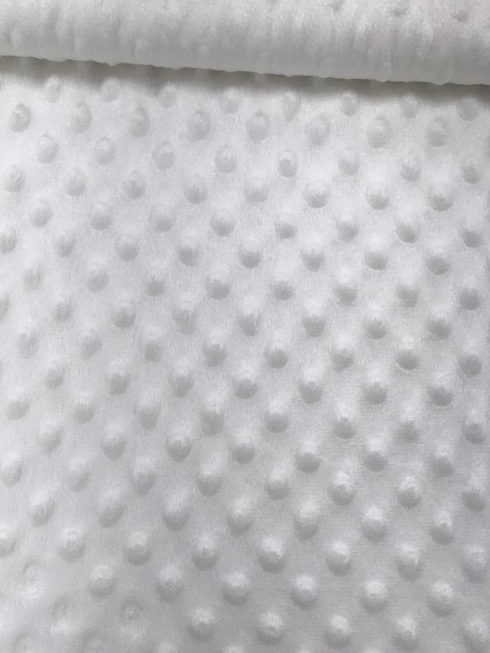 Fleece Minky Dots/Noppen, weiß. Art. 03347/051