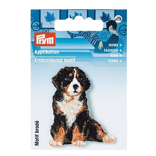 Applikation Sennenhund, braun/schwarz.  Art. 925578