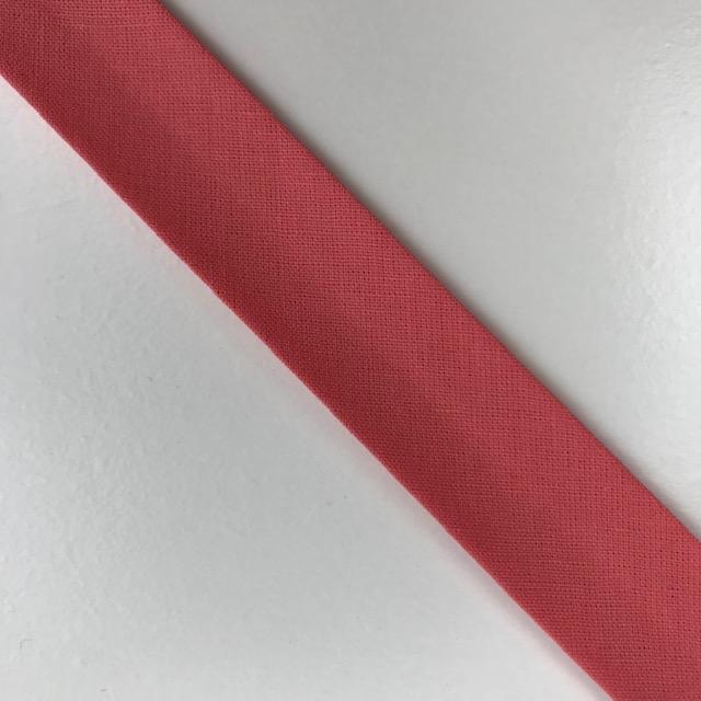 Baumwollpopeline - Schrägband, lachs. Art. SW11650