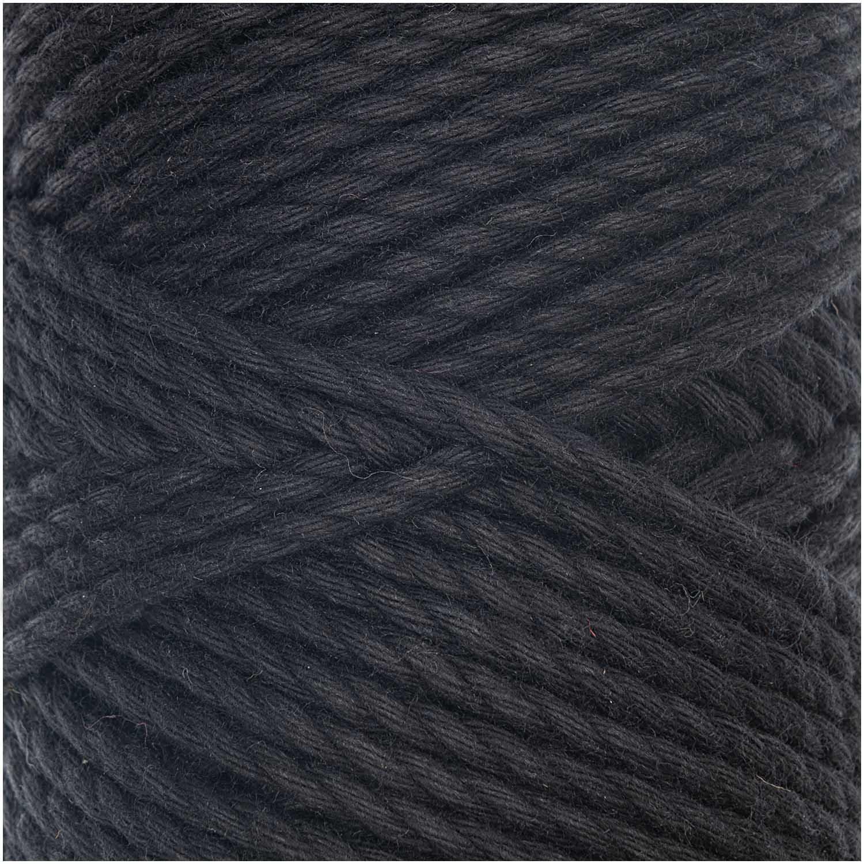 CREATIVE COTTON CORD SKINNY MAKRAMEE-GARN 190G 55M / Schwarz