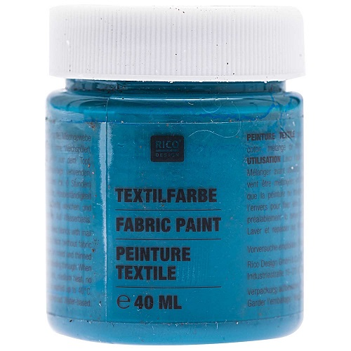 Textilfarbe, petrol, 40 ml, Rico Design. Art. 7014.513