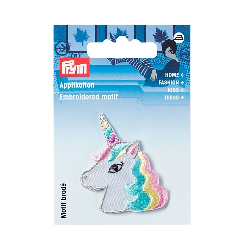Applikation Einhorn Kopf, pastell. Art. 923211