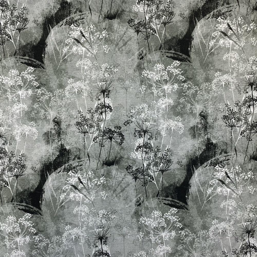 Viskosenjersey, Digital Druck, antrazit. Art. MU4730/764