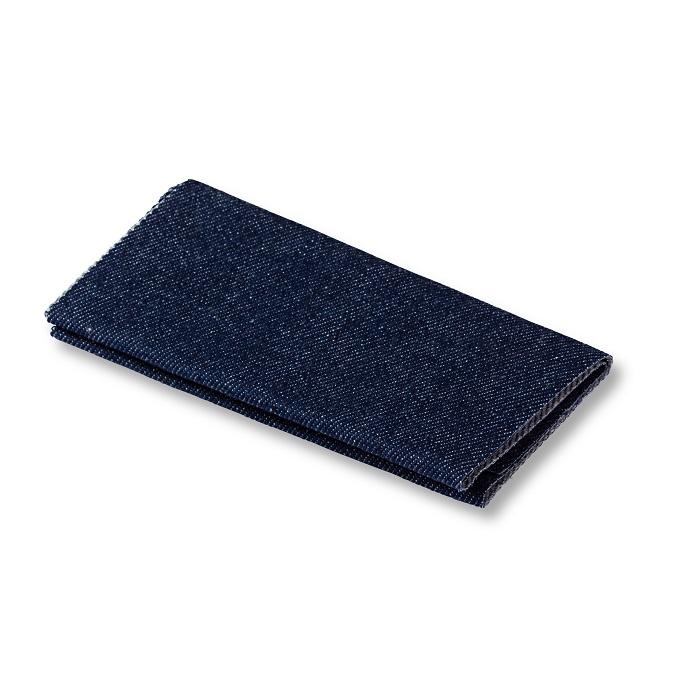 Flickstoff Jeans, aufbügelbar, 12 x 45cm, dunkelblau. Art. 929550