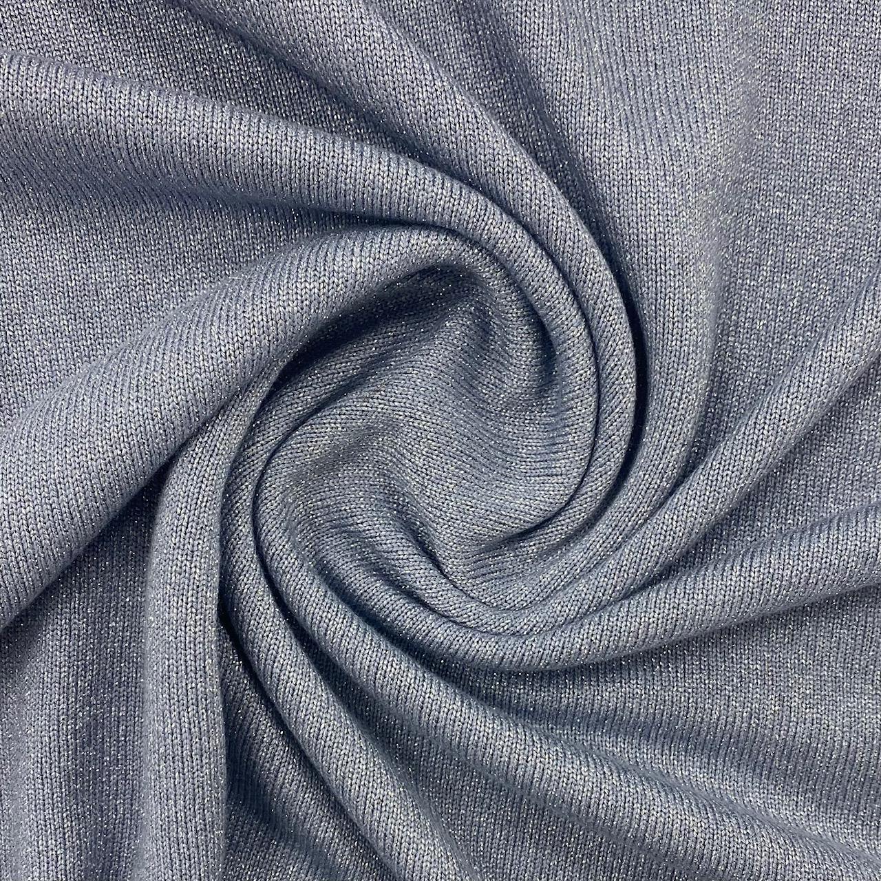 Viskose Strickstoff mit Lurex, hellblau. Art. 4871.401