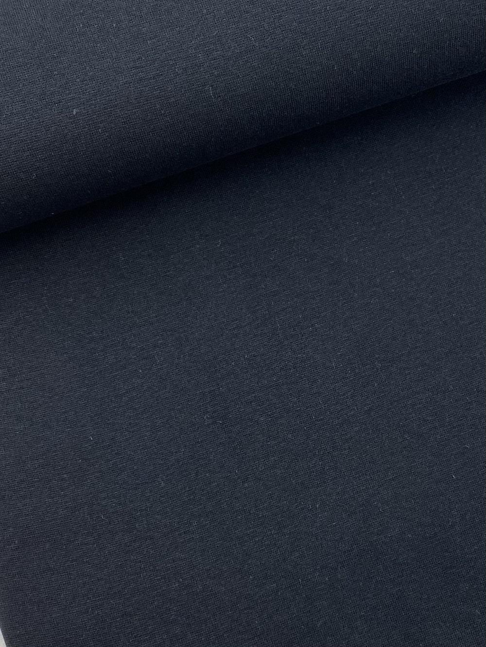 Bündchenware (glatt), schwarz. Art. SW10644