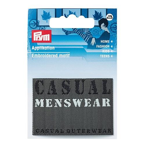 Applikation Jeanslabel, schwarz, Rechteck, Casual Menswear.  Art. 925650
