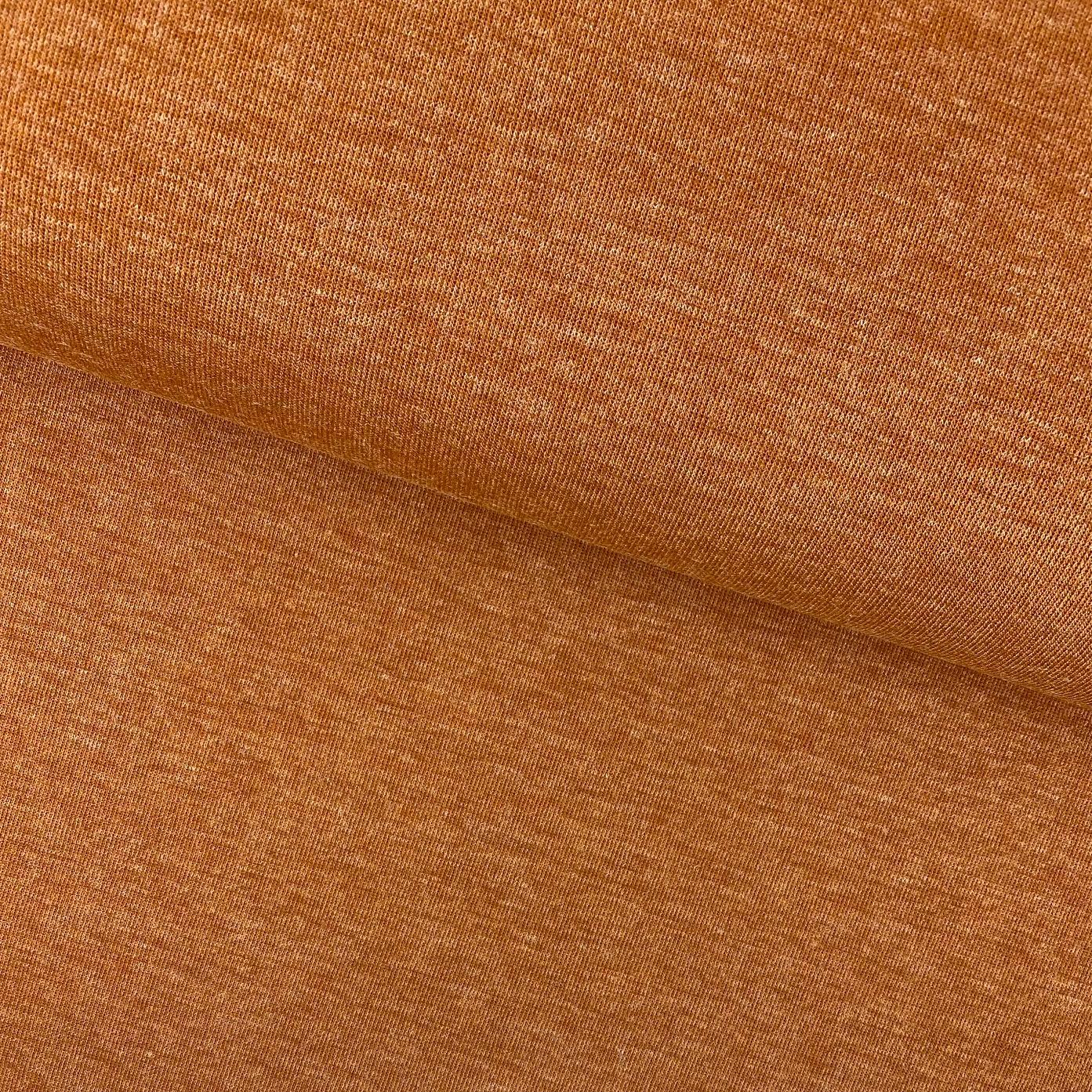 Kuschel-Strickstoff Melange, dunkelorange.  Art. SW11293