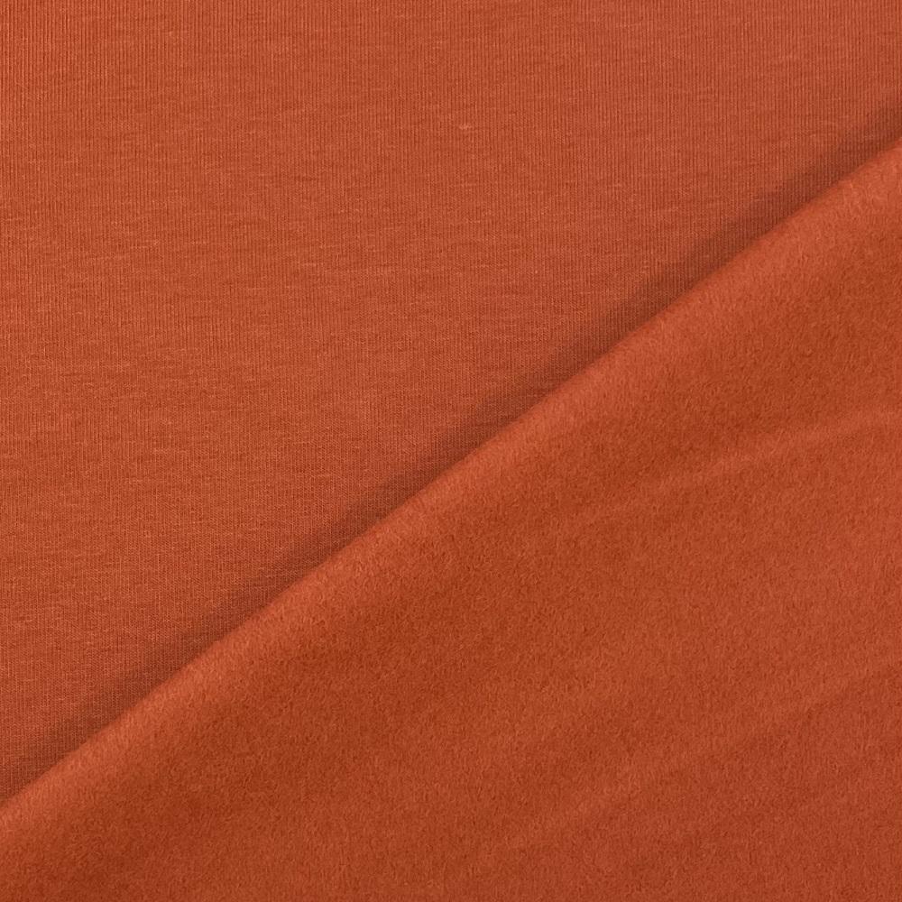 Soft French Terry/Sweatstoff angeraut, rost, uni. Art. 4283/1338