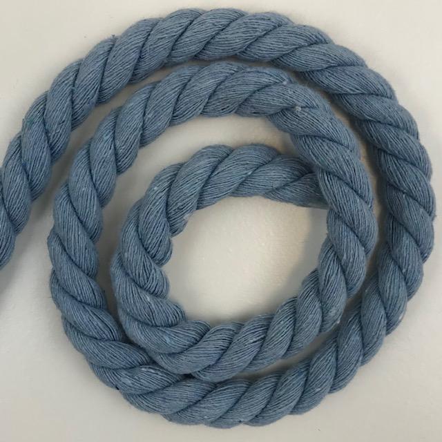 Baumwollkordel 10 mm, jeansblau. Art. SW11533