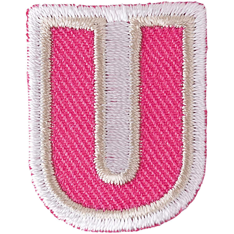 Patch Buchstabe zum aufbügeln, 3,2 cm, U.  Art. 7094.56.21