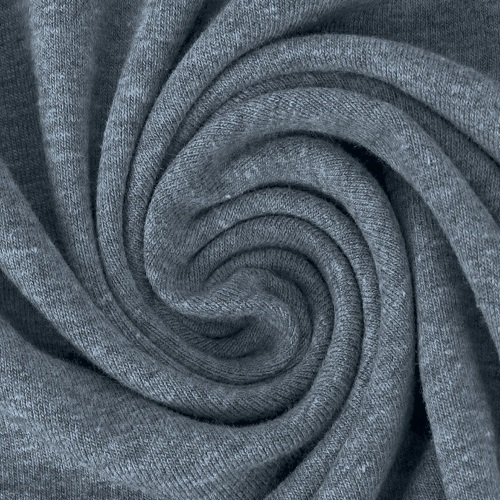 Baumwolljersey, uni, graublau meliert. Art.8973/908