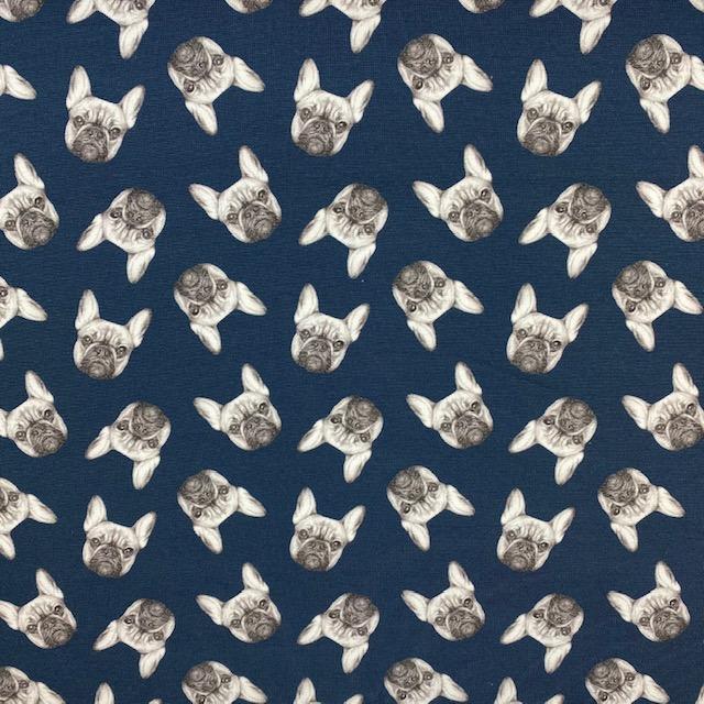 Baumwolljersey, Dogs dunkelblau. Art. 50003-069