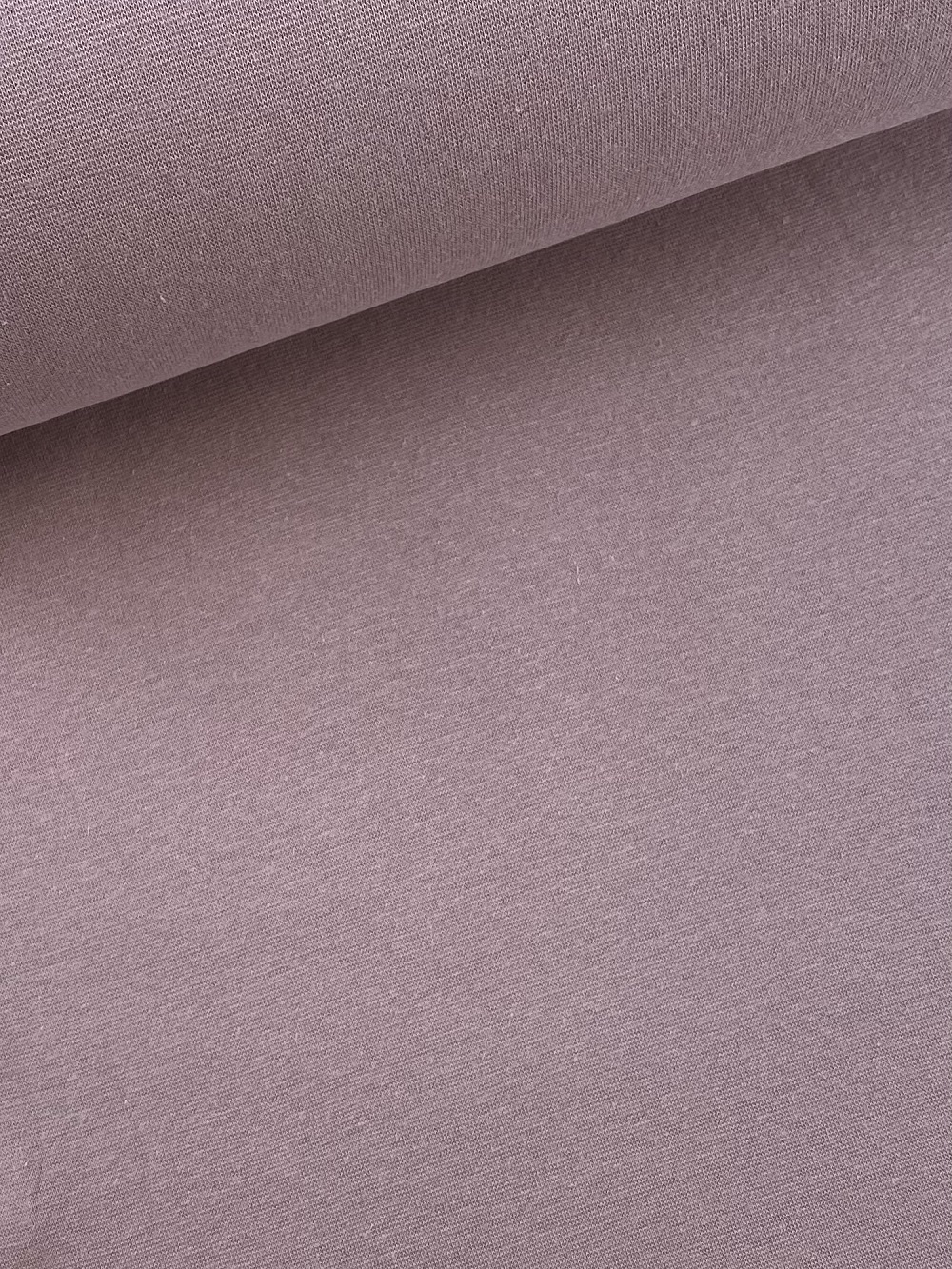 Bündchenware (glatt), dunkel flieder. Art. SW10637