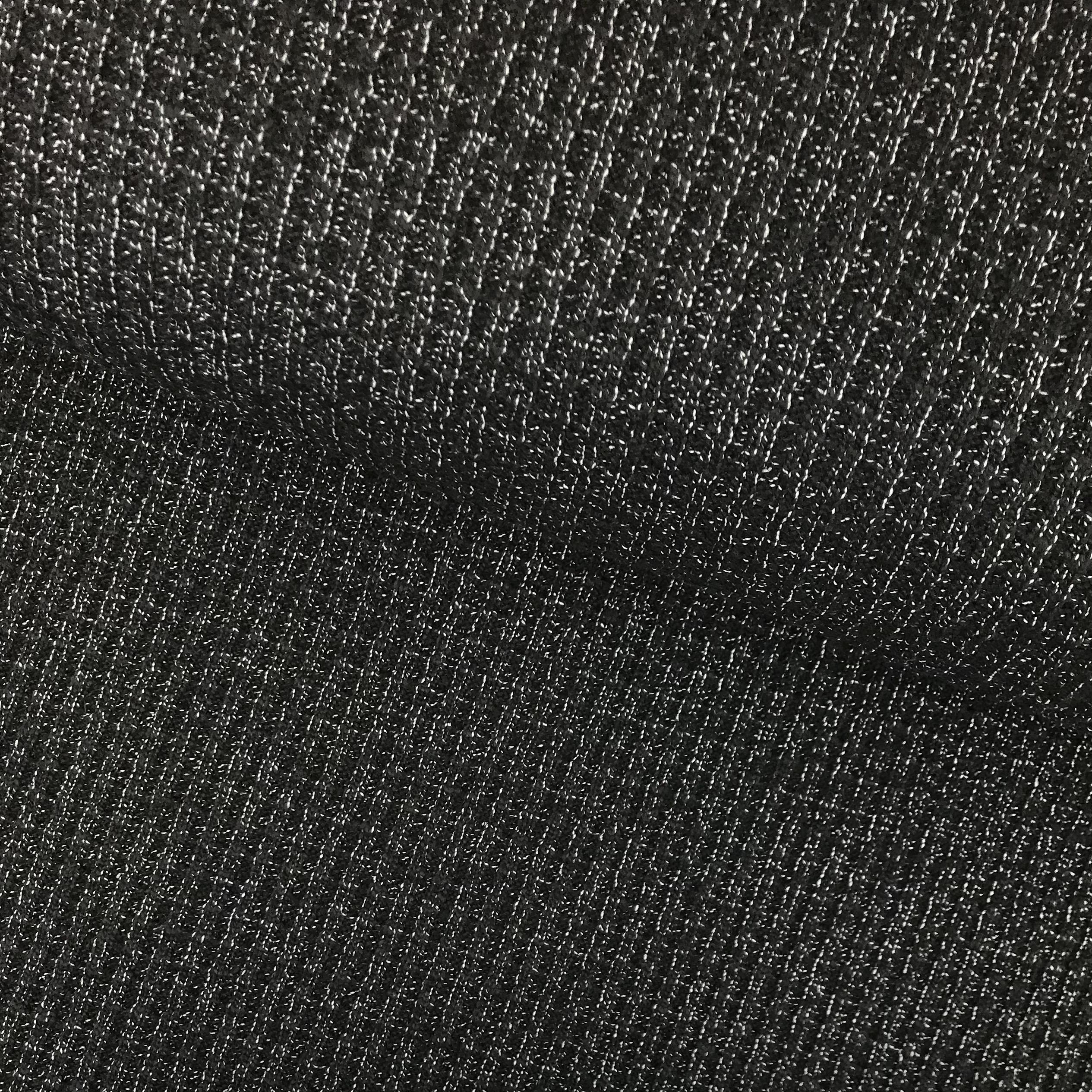 Strickstoff Baumwolle, schwarz meliert. Art. 4808-69