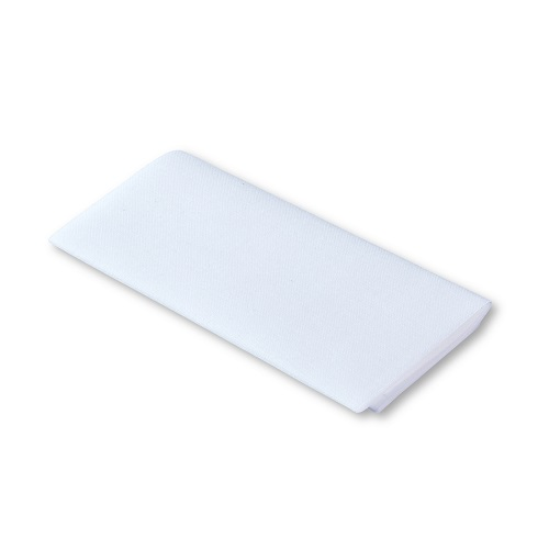 Flickstoff aufbügelbar, 12 x 45cm, weiß. Art. 929401