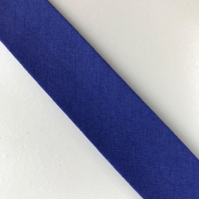 Baumwollpopeline - Schrägband, blau. Art. SW11673