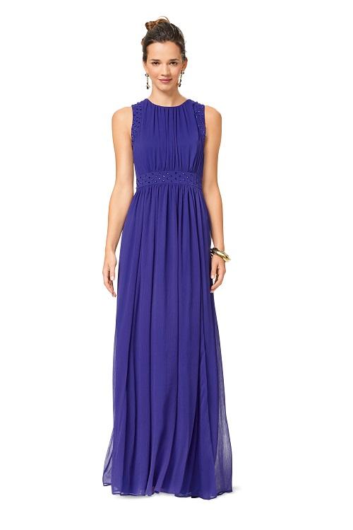 Kleid und Abendkleid und doppellagig und Taillenblende F/S 2017 #6518