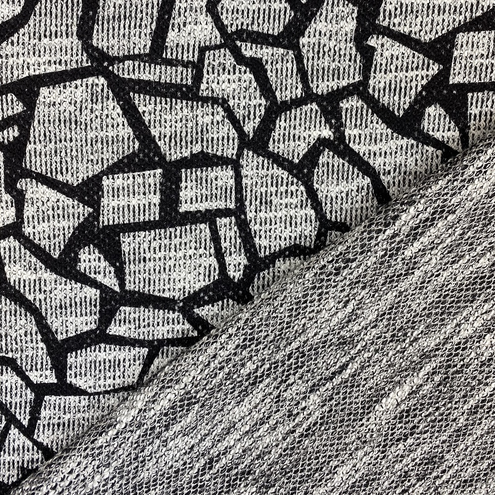 Jacquard Jersey, schwarz/grau. Art. 412500