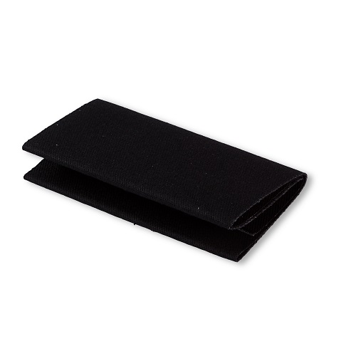 Flickstoff Köper, aufbügelbar, 12 x 45cm, schwarz. Art. 929520