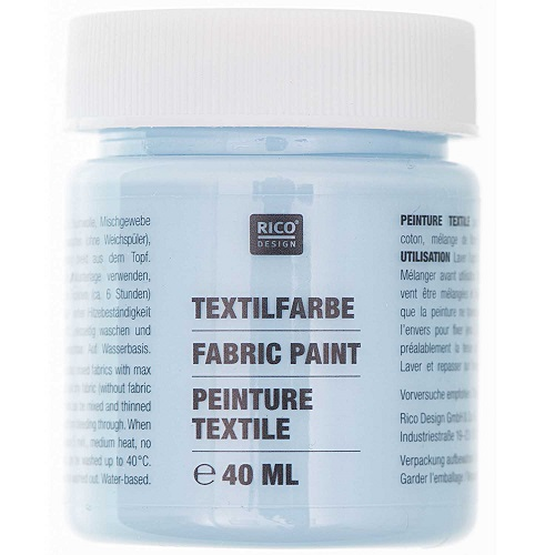 Textilfarbe, hellblau, 40 ml, Rico Design. Art. 7014.512