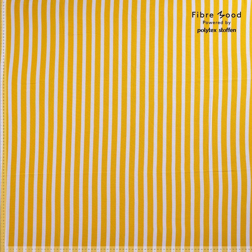 Fibre Mood #Grace, Viskose Crepe, weiß/gelb. Art. FM873001