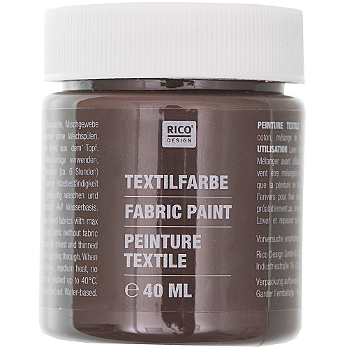 Textilfarbe, dunkelbraun, 40 ml, Rico Design. Art. 7014.518