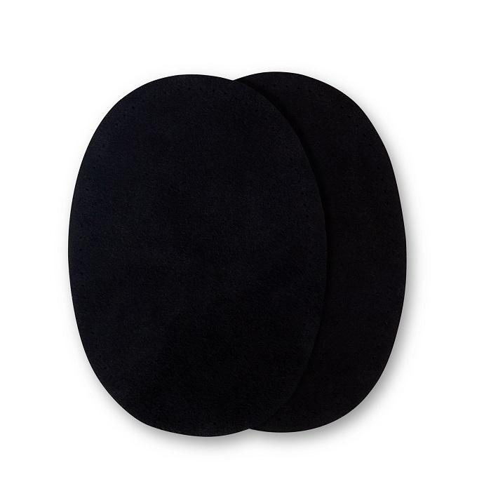 Patches Veloursleder, zum Aufnähen, 10 x 14cm, schwarz. Art. 929350