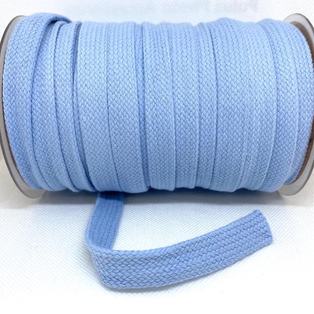 Baumwollkordel flach, 20 mm, Baby Blau.  Art. 020-500