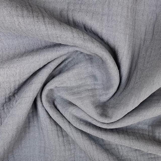 Baumwoll Musselin Double Gauze, dunkelgrau. Art. 8290-069