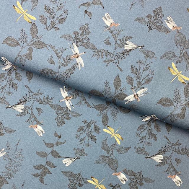Baumwollpopelin, Organic, jeansblau. Art. SW11402