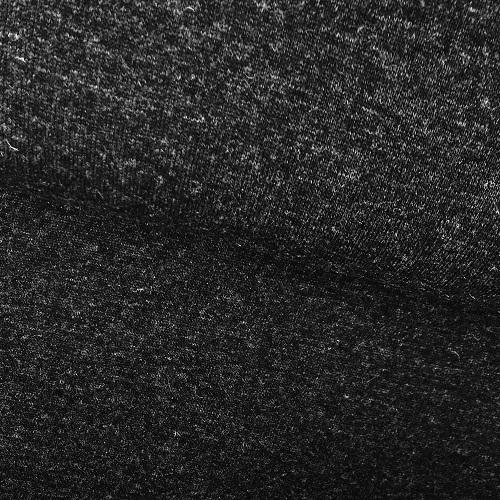 Strickstoff Doubleface mit Fell auf der Rückseite, antrazitgrau. Art. 4352-01
